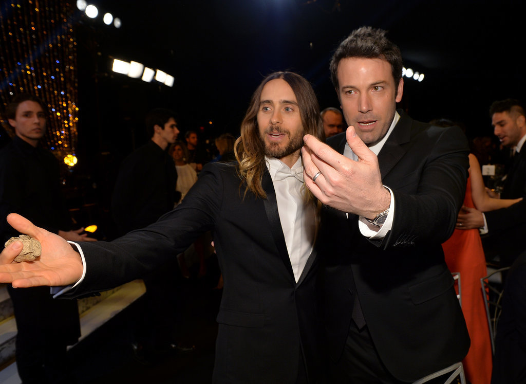 Who were Ben Affleck and Jared Leto beckoning to?