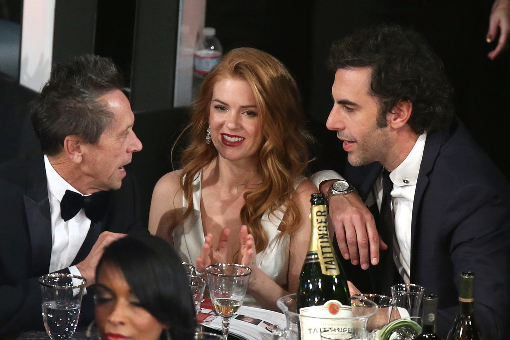 Isla Fisher and Sacha Baron Cohen chatted during the SAG Awards.