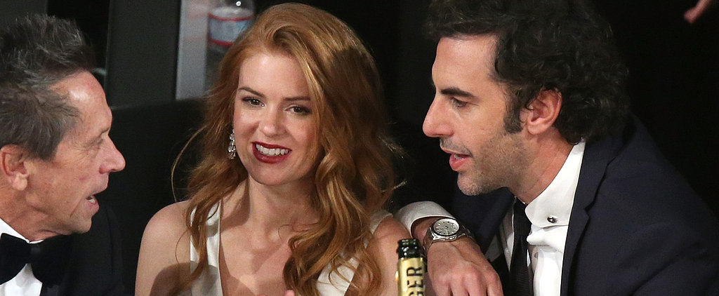 Isla Fisher and Sacha Baron Cohen Sneak Into the SAGs