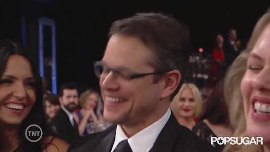 Matt Damon's Reaction to Michael Douglas's Dirty Acceptance-Speech Joke