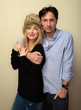 Zach Braff and Kate Hudson embraced on Saturday.
