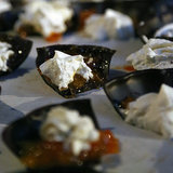 Dark Chocolate With Goat Cheese and Marmalade