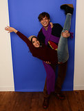 Aubrey Plaza and Matthew Gray Gubler goofed off on Sunday.