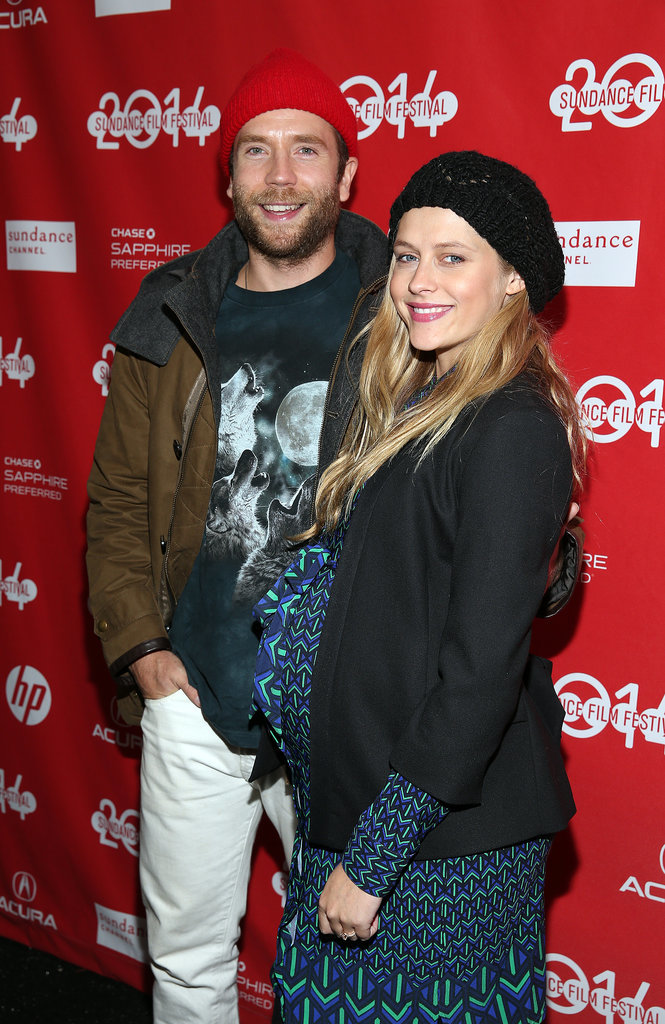 Mark Webber celebrated his Happy Christmas premiere with his pregnant wife, Teresa Palmer.