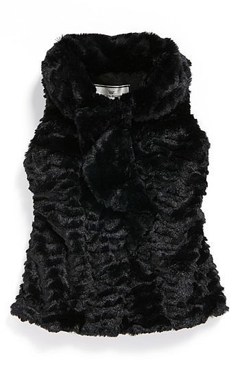 Widgeon Ruffled Faux Fur Vest