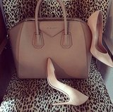 These beige accessories are anything but boring. Source: Instagram user kourtneykardash