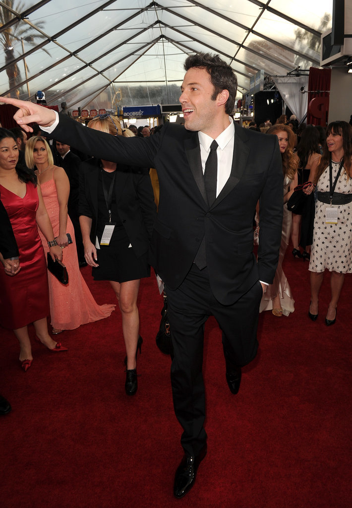 Ben Affleck worked the red carpet.