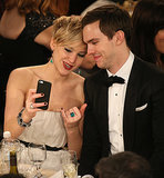 How She Documented Award Season With a Selfie Alongside Her Boyfriend, Nicholas Hoult