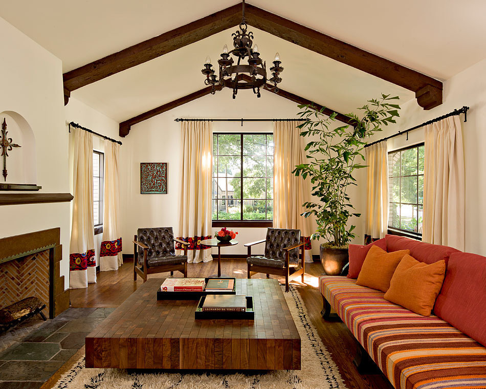 mediterranean style living room popsugar home