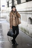Congrats, Fadela! A leopard print coat is the perfect way to stay warm this Winter!