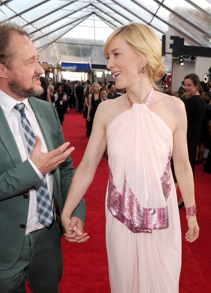 Cate kept her eyes on her husband at the SAGs.
