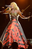 Carrie Underwood performed in an LED-display gown during the Grammys in 2013.