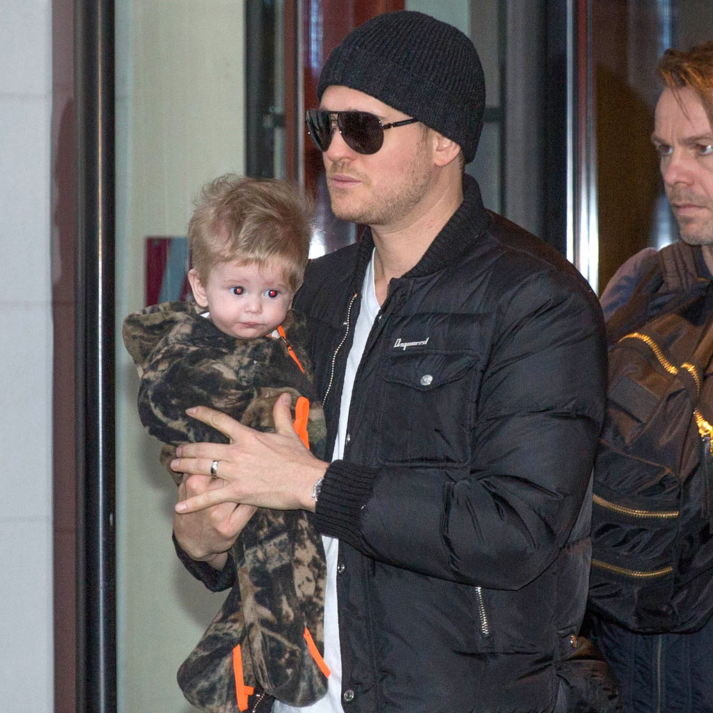 Michael Buble With Baby Noah in Amsterdam