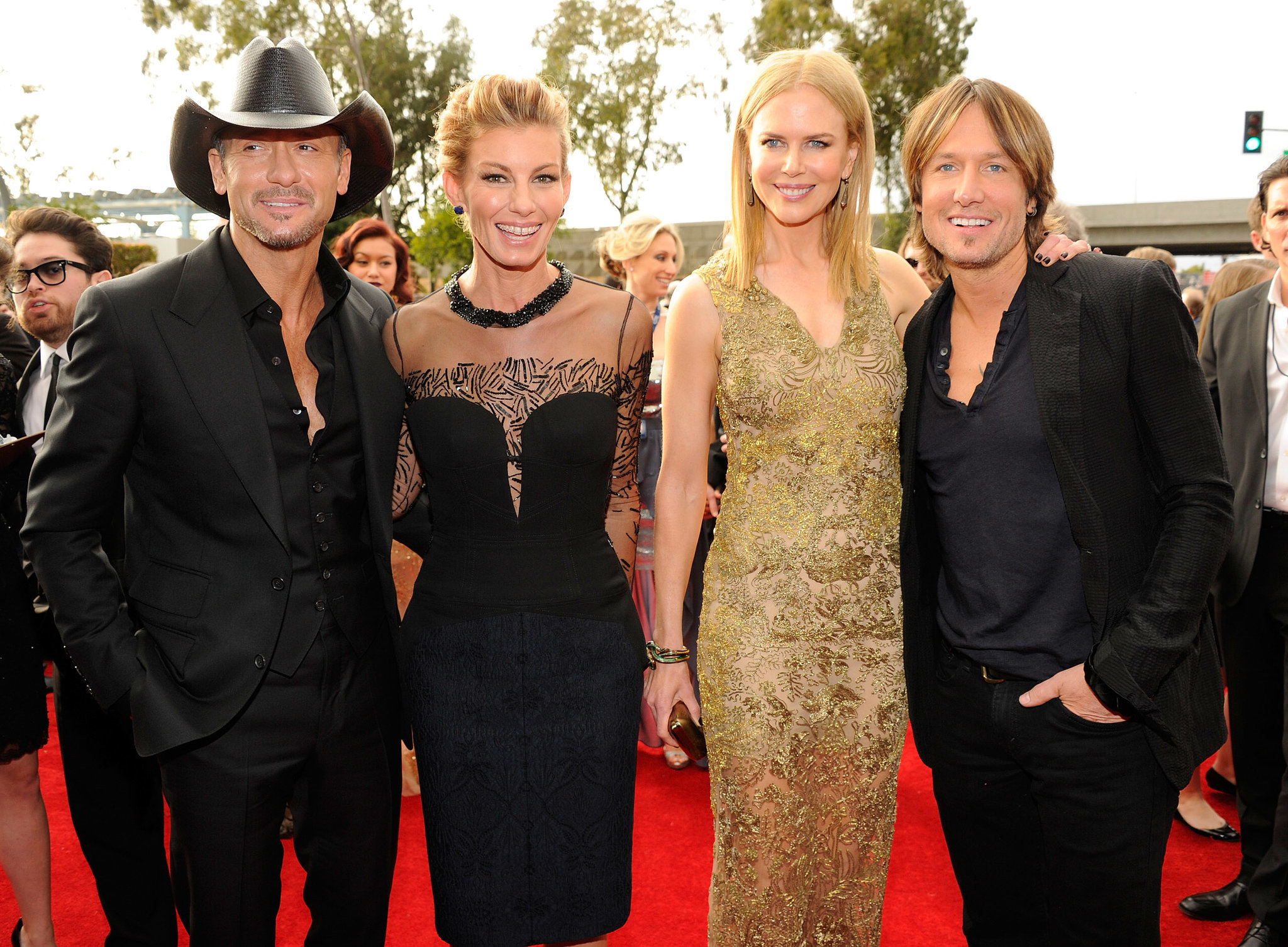 Tim McGraw, Faith Hill, Nicole Kidman, and Keith Urban, 2013
