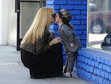 Rachel Zoe got an adorable smooch from her 2-year-old son, Skyler Berman, in LA.