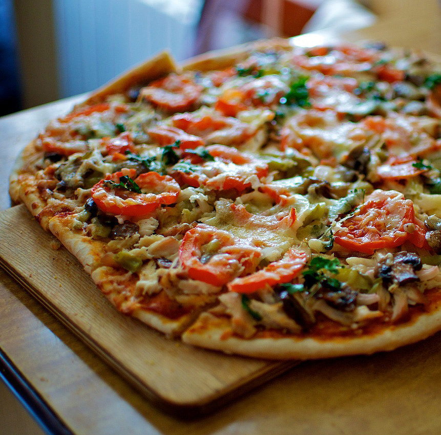 Whole-Wheat Veggie Pizza