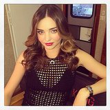 Miranda Kerr lounged in her trailer while on set. Source: Instagram user mirandakerr