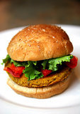 Veggie Burger and Steamed Kale