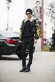 Tough-girl with a Versace-inspired twist. Source: Le 21ème | Adam Katz Sinding