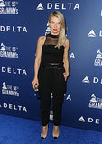 At the Delta party, Julianne Hough wore all black.