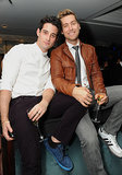 Lance Bass and his fiancé, Michael Turchin, posed at the Delta bash.