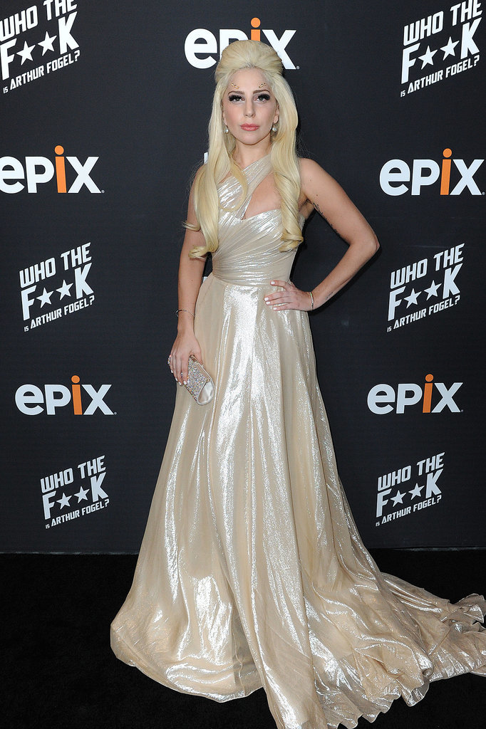 On Thursday, Lady Gaga got glammed up for Epix's party for Arthur Fogel in LA.