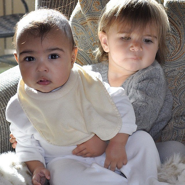 North West got a little support from her older cousin, Penelope Disick. Source: Instagram user kimkardashian