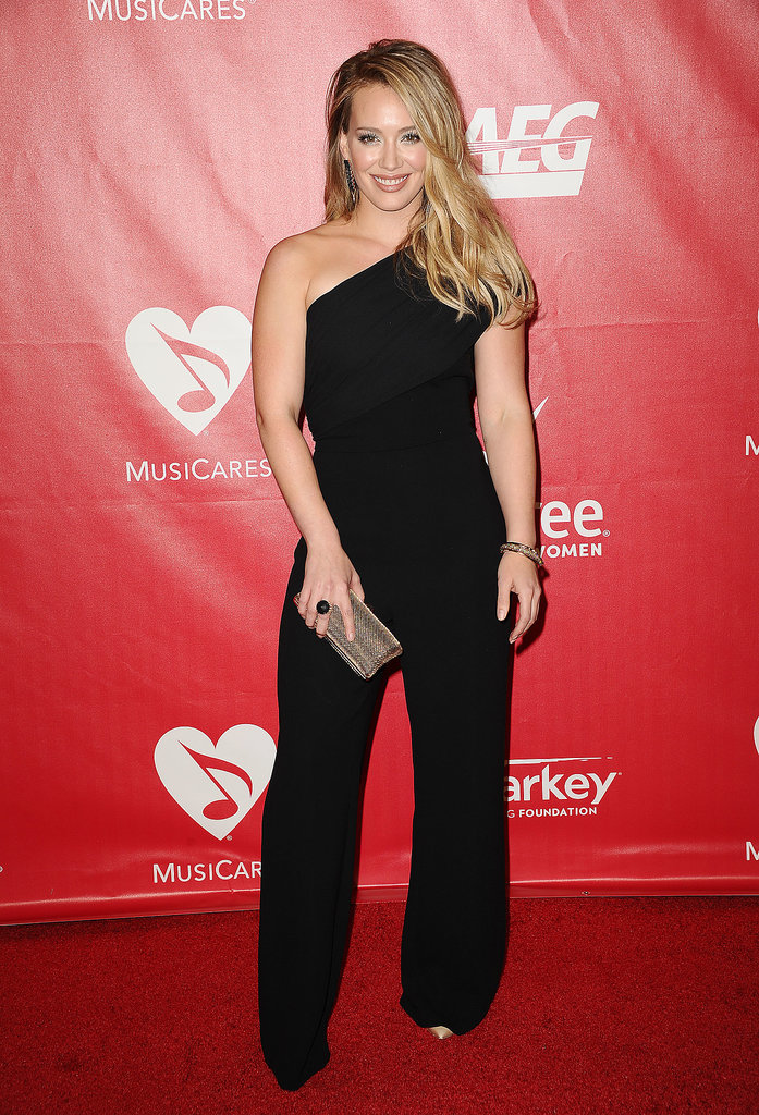Hilary Duff was all smiles at the 2014 MusiCares Person of the Year event honoring Carole King.