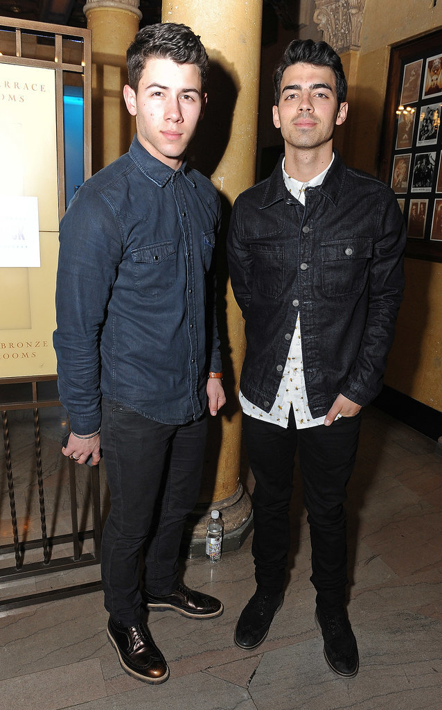 Brothers Nick and Joe Jonas linked up for the Friends 'N' Family pre-Grammys party.