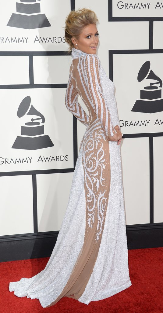 Paris Hilton at the Grammys 2014