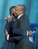 Jay Z hugged Jamie Foxx before accepting his award.