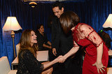 Julia Roberts met Gloria Esterfan and Marc Anthony backstage.