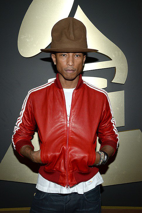 LOS ANGELES, CA - JANUARY 26: Recording artist/Producer Pharrell Williams attends the 56th GRAMMY Awards at Staples Center on January 26, 2014 in Los Angeles, California. (Photo by Larry Busacca/WireImage)