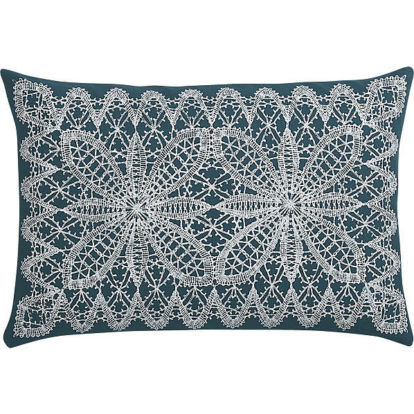 This intricate lace pillow ($13, originally $30) has a casual, bohemian vibe.