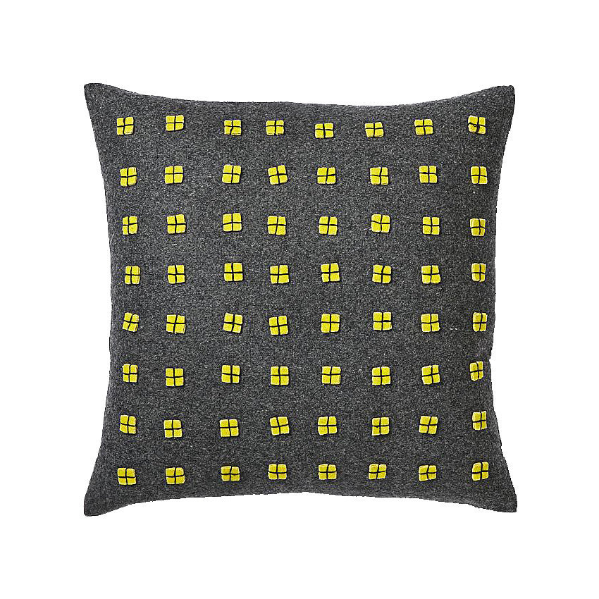 The tiny, felt applique details in this toss pillow ($20, originally $35) add a bold and graphic appeal.