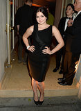 Ariel Winter wore black to the Warner Music bash.