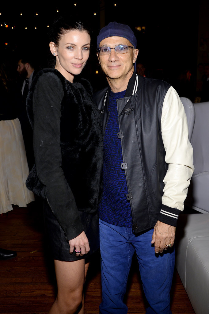 Liberty Ross cozied up to Jimmy Iovine at the Sony Music party.