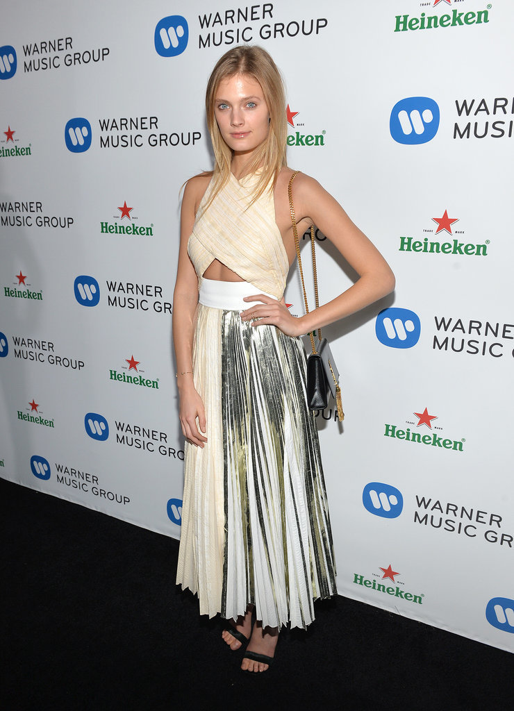 Constance Jablonski in Proenza Schouler at Grammys Afterparty