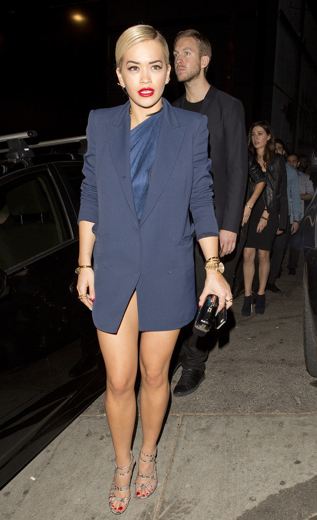 Rita Ora in Blue Outfit at Grammys Afterparty