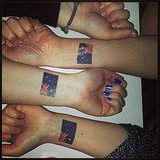 There are cool flag tattoos you can wear on your wrist.