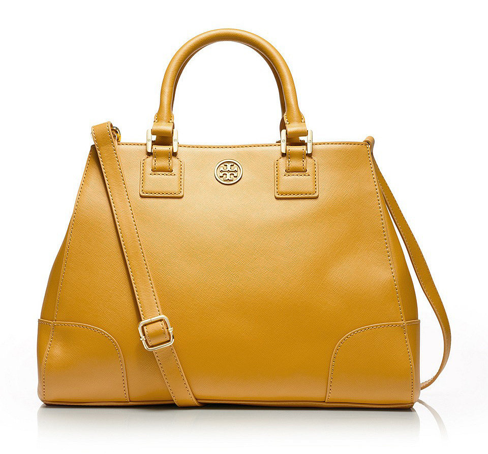 Tory Burch Robinson Yellow Triangle Tote