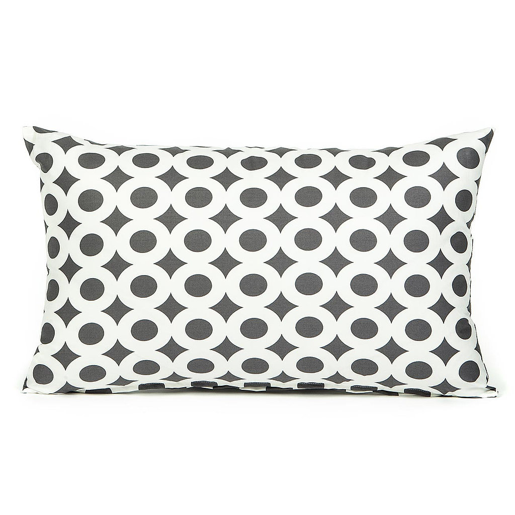 Fill a room with the modern print of this gray lumbar pillow ($24).