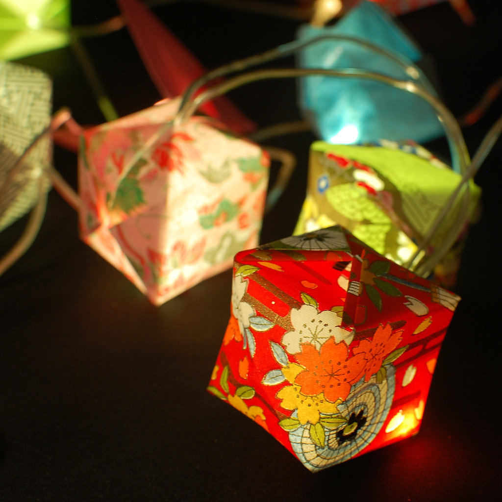 Light up your party with these colorful origami lights ($55).