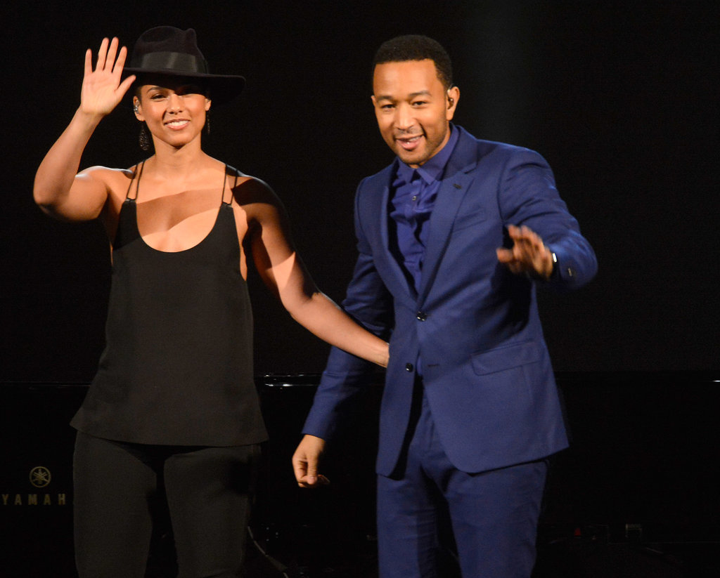 Alicia Keys and John Legend sang a duet.