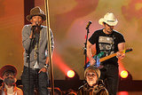 Pharrell performed with Brad Paisley.
