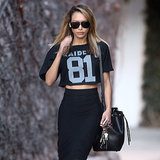 Naya Rivera Wearing a Jersey Crop Top
