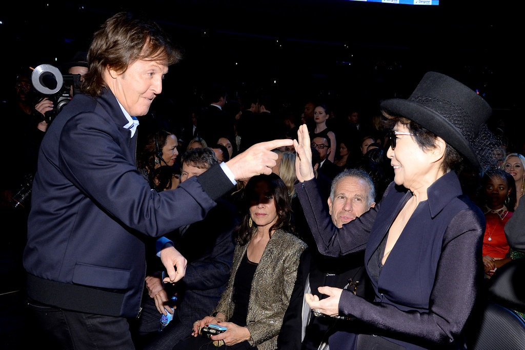 At the Grammys, Yoko Ono and Paul McCartney shared a moment.