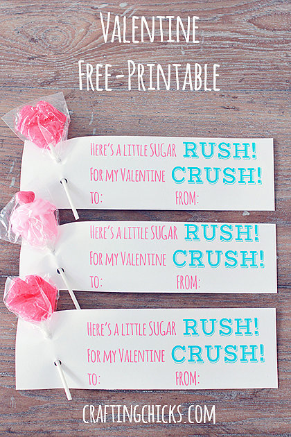 Sugar Rush Valentine's Printable