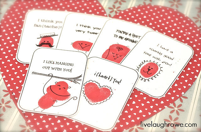 Thumbprint Cards Printables