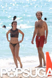 Thomas Bangalter and his wife, French actress Elodie Bouchez, were spotted in Miami in October 2013.